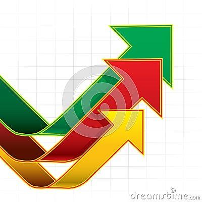 Arrows graph White background