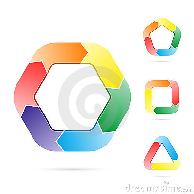 Free Arrows In A Circle Flow Of An Object Stock Image - 14863491