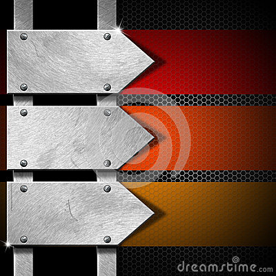 Free Arrows Metal Signboard Stock Image - 31128401
