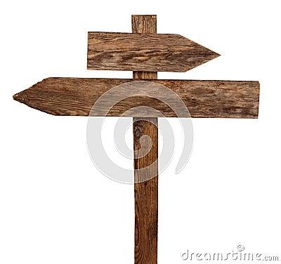 Arrows road sign