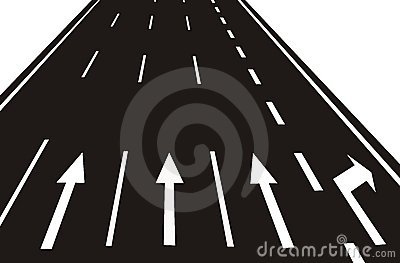 arrows on the Road(vector)