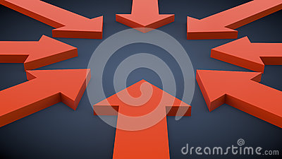 Arrows to the center