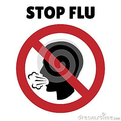 arr tez le signe de grippe toux de l 39 homme dans le cadre d 39 interdiction illustration de vecteur. Black Bedroom Furniture Sets. Home Design Ideas