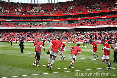 Arsenal Warm Up 2 Editorial Photo