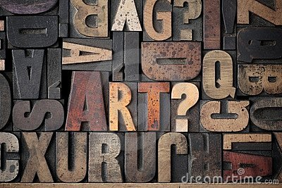 Royalty Free Photos Free Download The word Art spelled out in