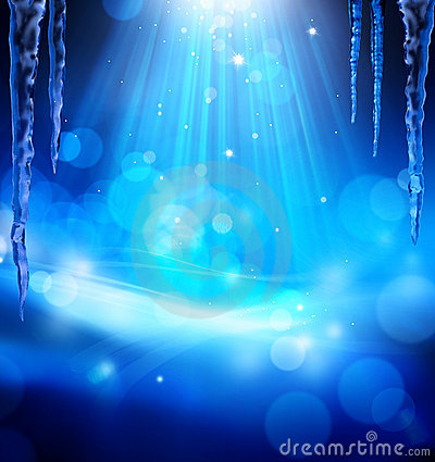 Free Art Abstract Christmas Blue Background Stock Images - 22049754