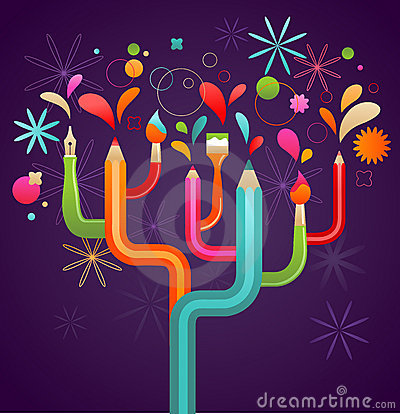 Free Art And Creation Tree, Concept Illustration Stock Photo - 20398720