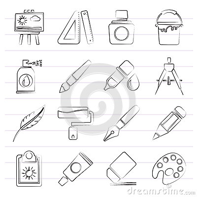 Free Art And Painter Icons Royalty Free Stock Photo - 89809685