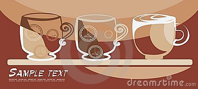 Art background with mugs