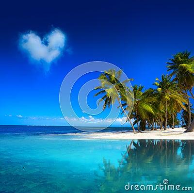 Art  beautiful tropical beach seascape