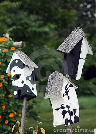 Art bird houses
