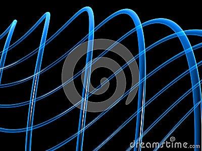 Art of blue fibers