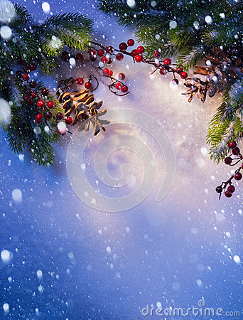 Free Art Blue Snow Christmas Background Frame Royalty Free Stock Photos - 27332688