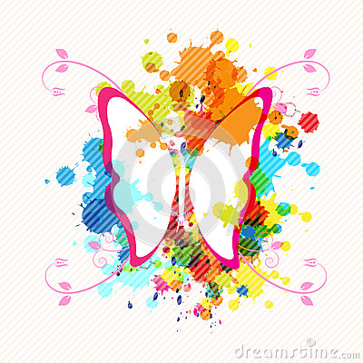 Art butterfly design