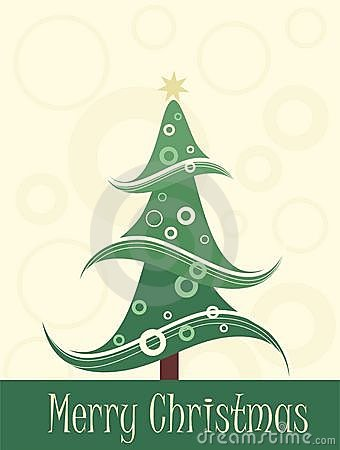 Art christmas tree card