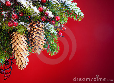 Art Christmas tree sheltered snow