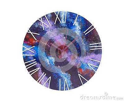 Art clock with a dial space.