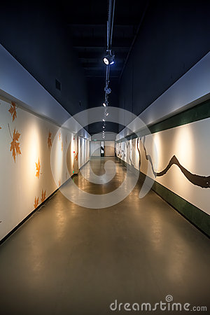 Art corridor in exhibition hall