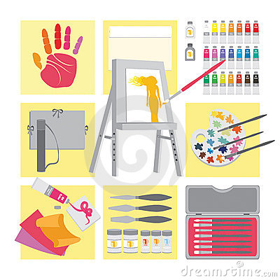 Art and craft elements – Oil painting