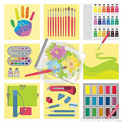 Art and craft elements – Watercolor painting