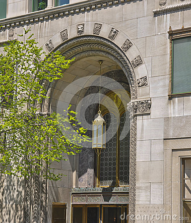 Art Deco Arched Entrance in Montreal
