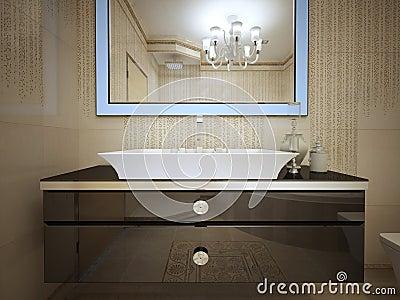 badezimmer art deco stockfoto - bild: 59209502, Hause ideen