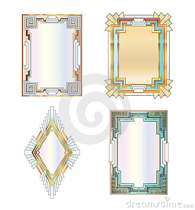 Art Deco Borders Royalty Free Stock Images Image 17614669