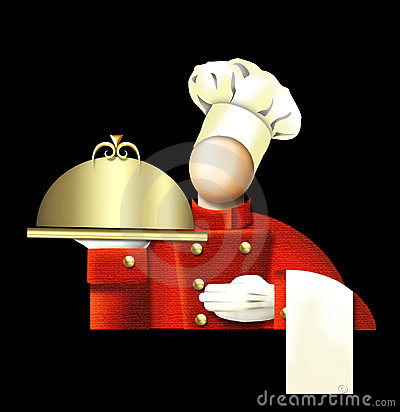 Free Art Deco Chef Stock Photography - 5258872