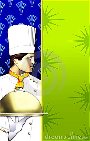 Free Art Deco Chef W/covered Dish Royalty Free Stock Photography - 2652917