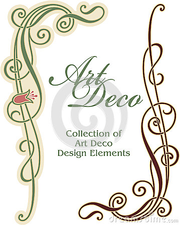 Art Deco Design Element Corner Stock Photography Image 24894412