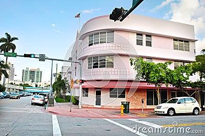 Art Deco District in Miami Beach, Florida, USA Editorial Stock Image