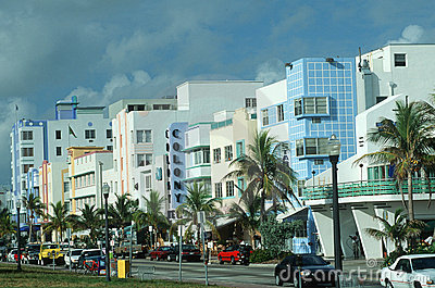 Art Deco District, South Beach Miami, FL Editorial Stock Image