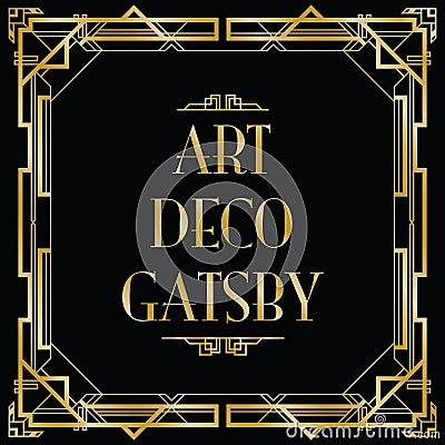 Art Deco Gatsby Stock Vector Image 43449572