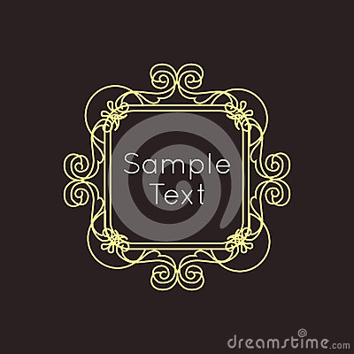 art deco geometric outline monogram and logo stock vector image 57307131. Black Bedroom Furniture Sets. Home Design Ideas
