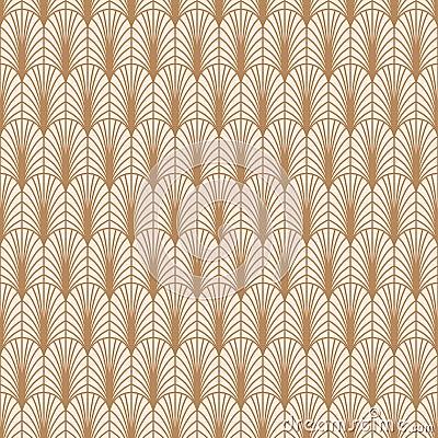 Free Art Deco Gold Line Geometric Style Pattern. Stock Photography - 112350822