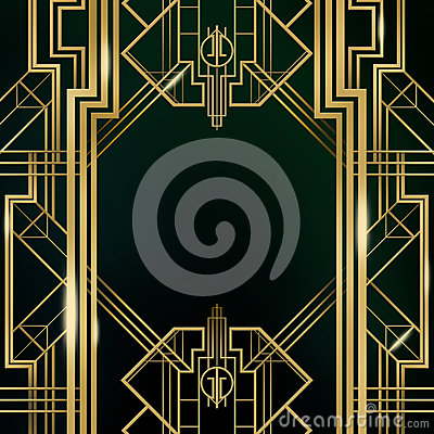 Free Art Deco Great Gatsby Background Stock Image - 47182421