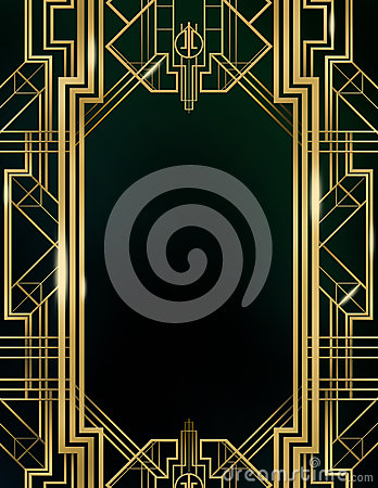 Free Art Deco Great Gatsby Background Stock Images - 47182704