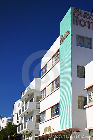 Art Deco hotel Miami. Editorial Stock Image
