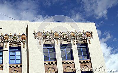 USA, New Mexico/Albuquerque: Art Deco Building
