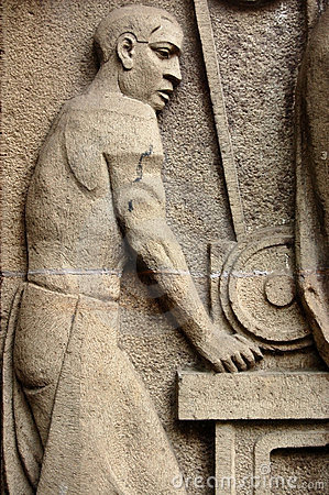 Art Deco metal worker