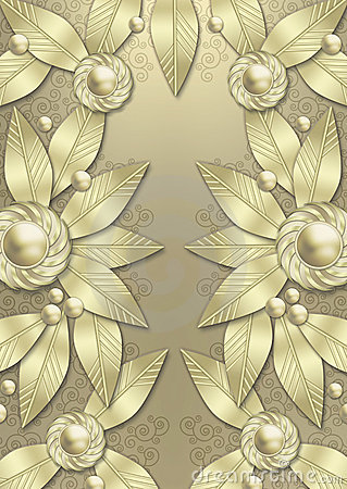 Art Deco Metallic Leaf background