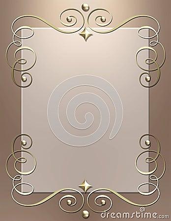 Art Deco metallic swirl frame