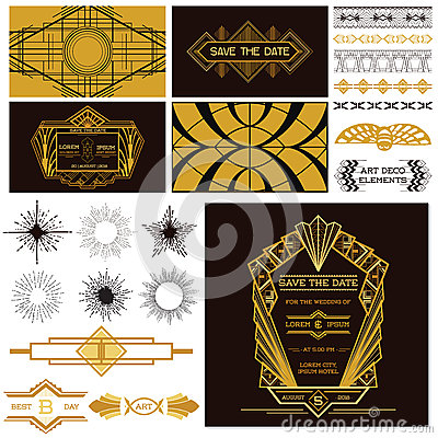 Free ART DECO OR GATSBY Party Set Stock Photography - 45291242