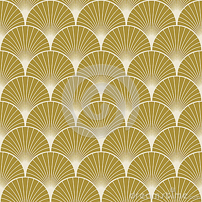 Free Art Deco Pattern Of Overlapping Arcs Stock Images - 50303224