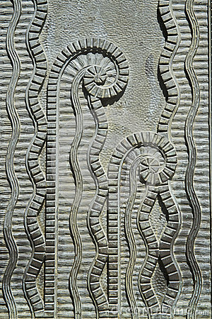 Free Art Deco Plant Pattern Stone Relief Royalty Free Stock Photo - 36243805