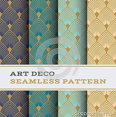 Free Art Deco Seamless Pattern 03 Royalty Free Stock Photography - 70623137