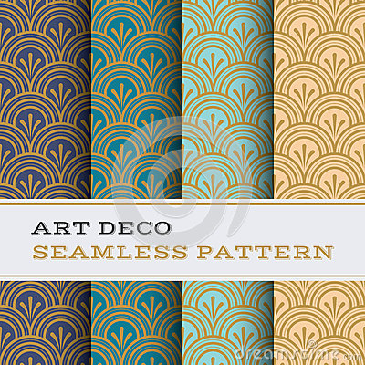 Free Art Deco Seamless Pattern 04 Royalty Free Stock Images - 70878739