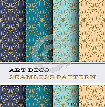 Free Art Deco Seamless Pattern 11 Royalty Free Stock Photo - 75740485