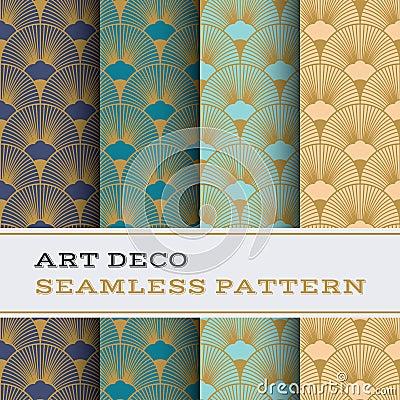 Free Art Deco Seamless Pattern 15 Stock Photography - 75740532