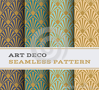Free Art Deco Seamless Pattern 17 Royalty Free Stock Images - 75740539